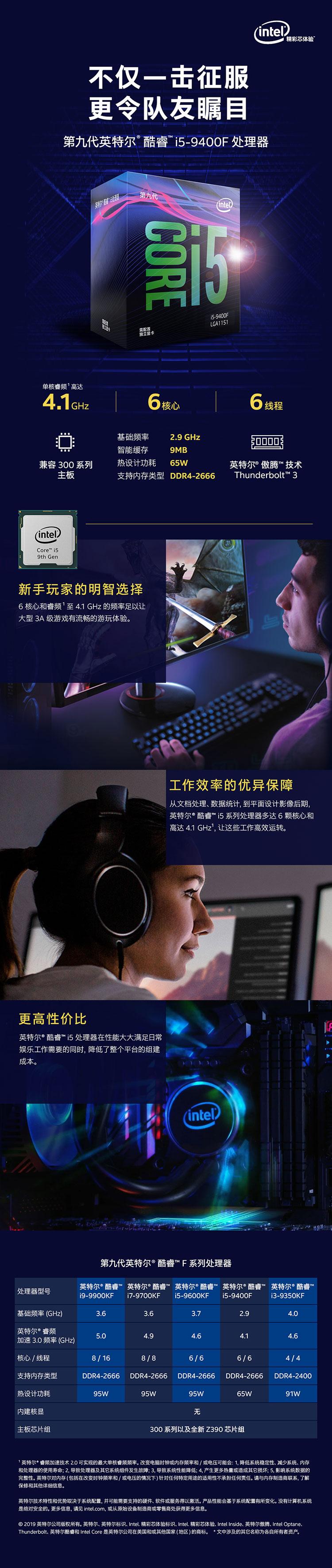 【英特尔i5 9400F】英特尔(Intel)i5 9400F 酷睿六核 盒装CPU处理器【行情 报价 价格 评测】-**.jpg