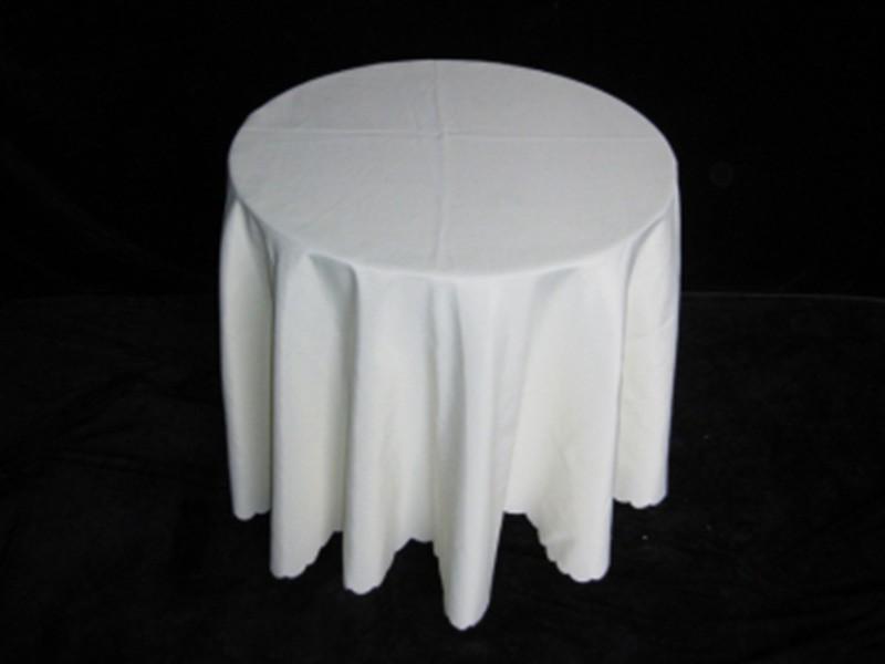 玻璃圆桌租赁 70cm*70cm 米白色普通布