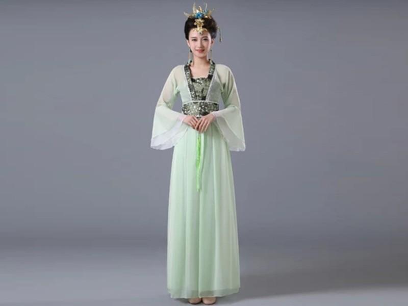 成人雪纺公主古筝襦裙表演服