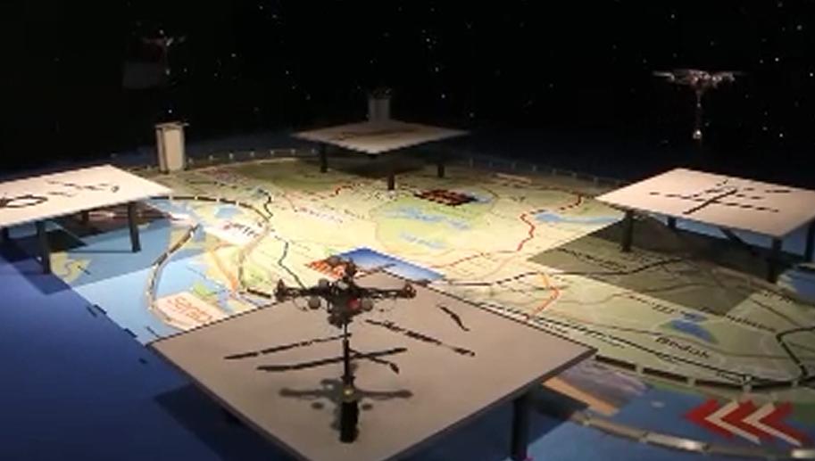 固定翼拉煙+3D直升機表演