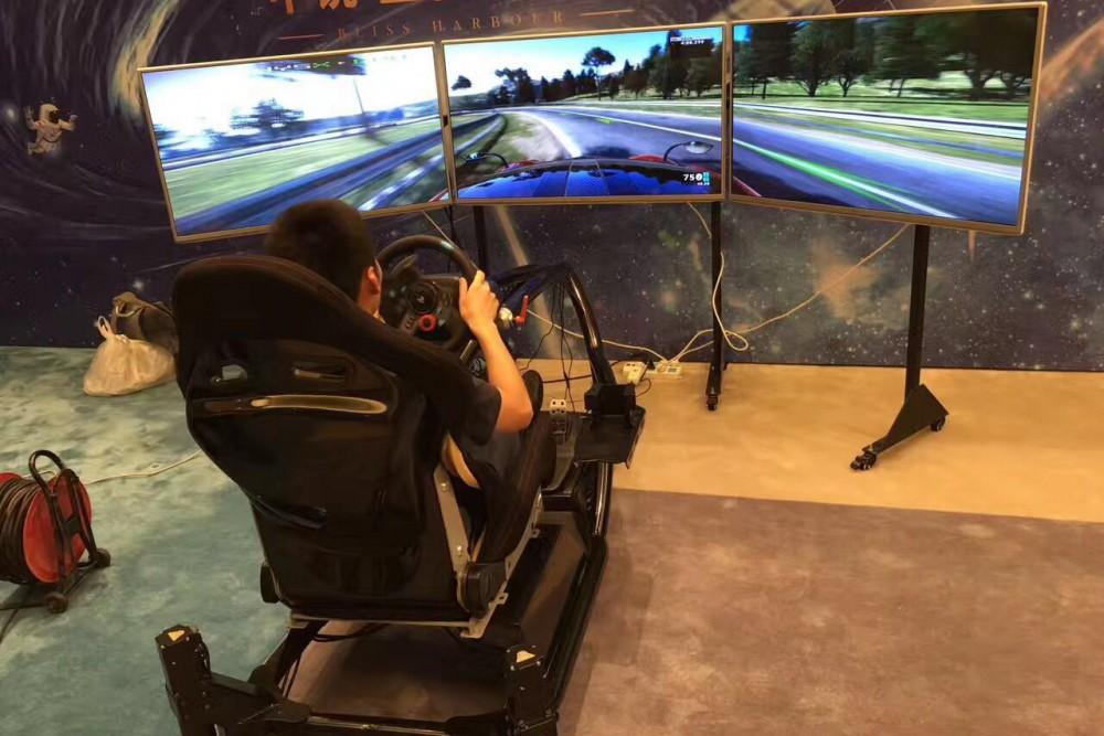 上海高端VR体感/三屏动感赛车模拟器 9D太空舱VR蛋椅 VR射击 VR高空救猫游乐设备出租租赁
