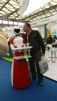 北京迎賓機器人演出