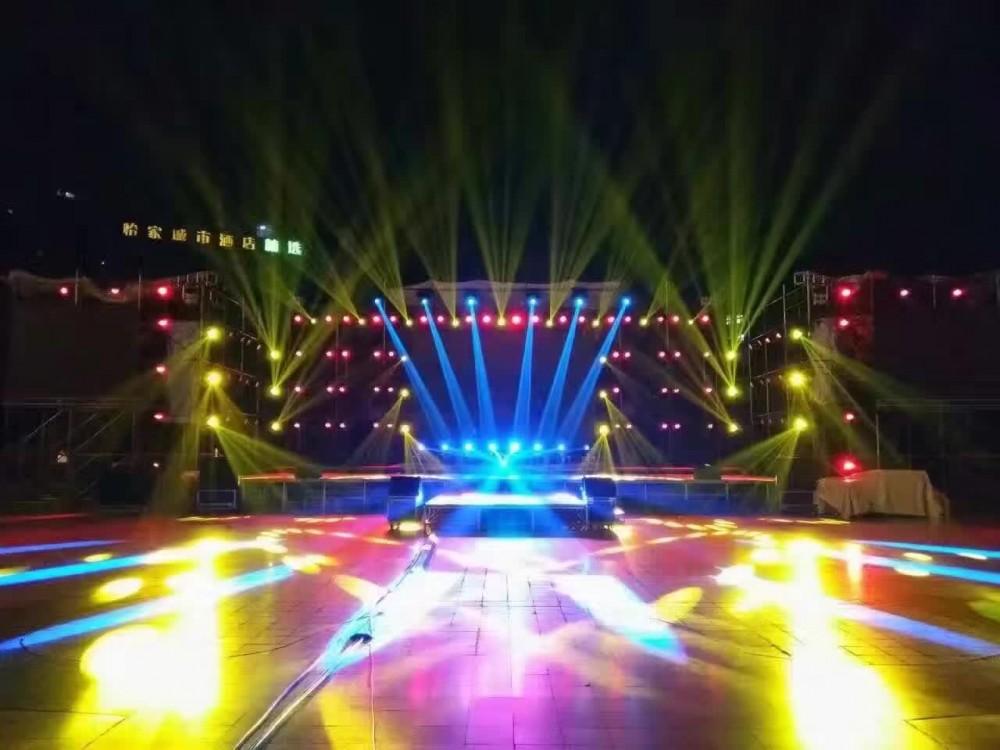 琼海演出会展设备租赁、舞台、音响、灯光、LED屏、桁架、礼炮、演艺节目等