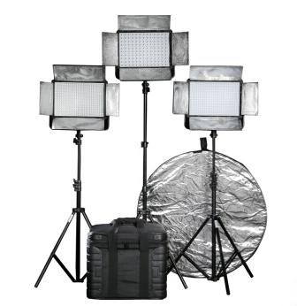 LED摄影 影视灯出租采访新闻灯演播灯视频拍摄补光灯一组3盏租赁