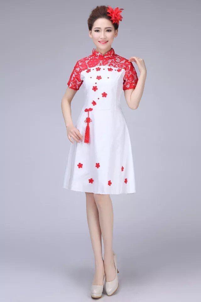 兰州鹏洋演出服装道具租赁中心 短款礼服
