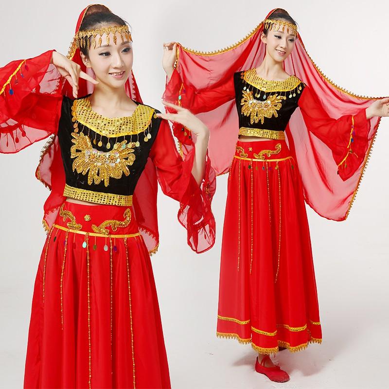 新疆舞維吾爾族女款舞蹈服(支持國內各城市發貨)