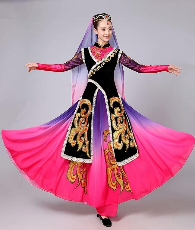 新疆舞维吾尔族回族保安族通用款女