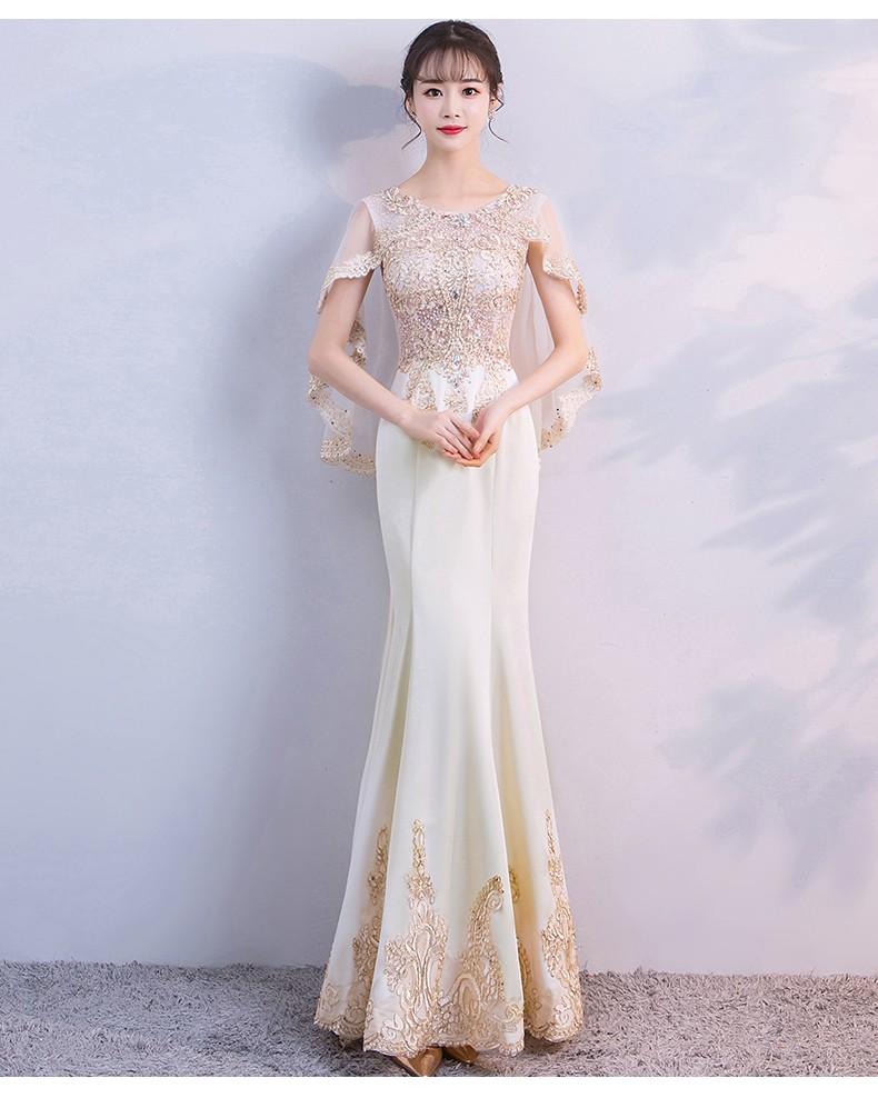 新款晚礼服端庄大气优雅高贵鱼尾修身显瘦主持人礼服裙