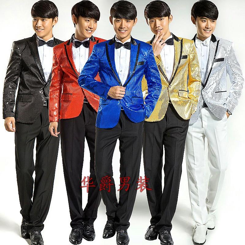 男士禮服韓版合唱司儀主持人歌手(外套)