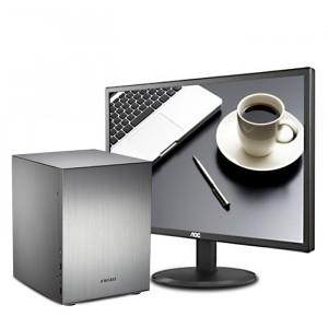 惠思买组装办公前台电脑