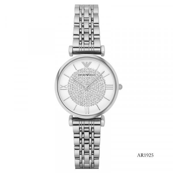 【租满即送】阿玛尼(EmporioArmani)钢制表带经典时尚休闲石英女士时尚腕表