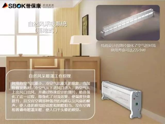 德国世保康 /SBOK 取暖器/电暖器/电暖气 欧式自然风对流式家用采暖 全房卧室采暖 智能恒温节能 2800瓦-黑色-落地式