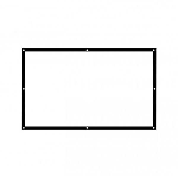 藍納 白塑100英寸16:9簡易便攜投影機高清幕布