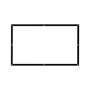 蓝纳 白塑100英寸16:9简易便携投影机高清幕布