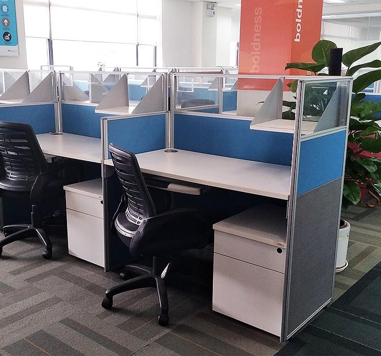 【二手9成新】国产开放式简约员工桌 办公桌 职员桌