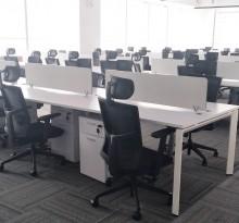 貝殼開放式工位 員工辦公桌 電腦桌【二手9成新】