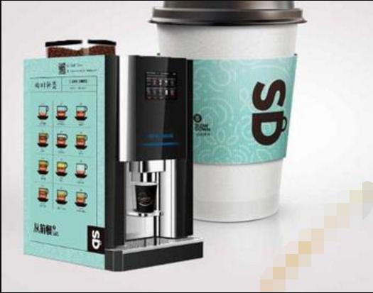 全自動現磨咖啡機+4.5元/杯咖啡(含咖啡物料)+可自動售賣