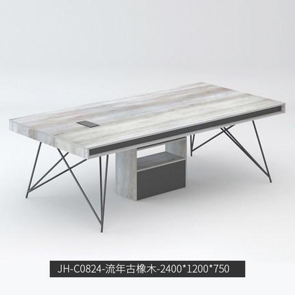 國產幾何風直條工位辦公桌會議桌