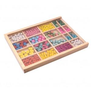 1-6歲寶寶實木玩具益智力串珠子男女小孩木珠