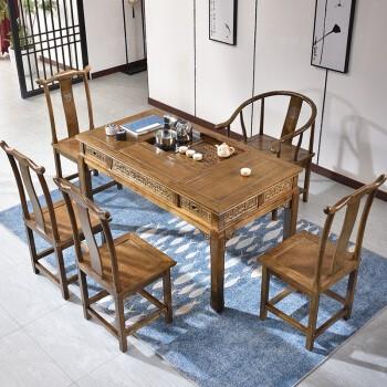 【租满即送】实木茶桌椅组合 明清仿古家具 包邮
