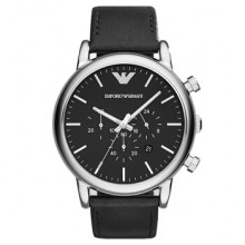 【到期可買斷】阿瑪尼手表 皮質表帶經典休閑時尚石英男AR1828