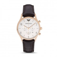 【到期可買斷】阿瑪尼皮帶石英男表時尚商務百搭經典腕表