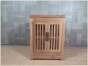 【租满即送】纯原木色全实木简约款茶水柜
