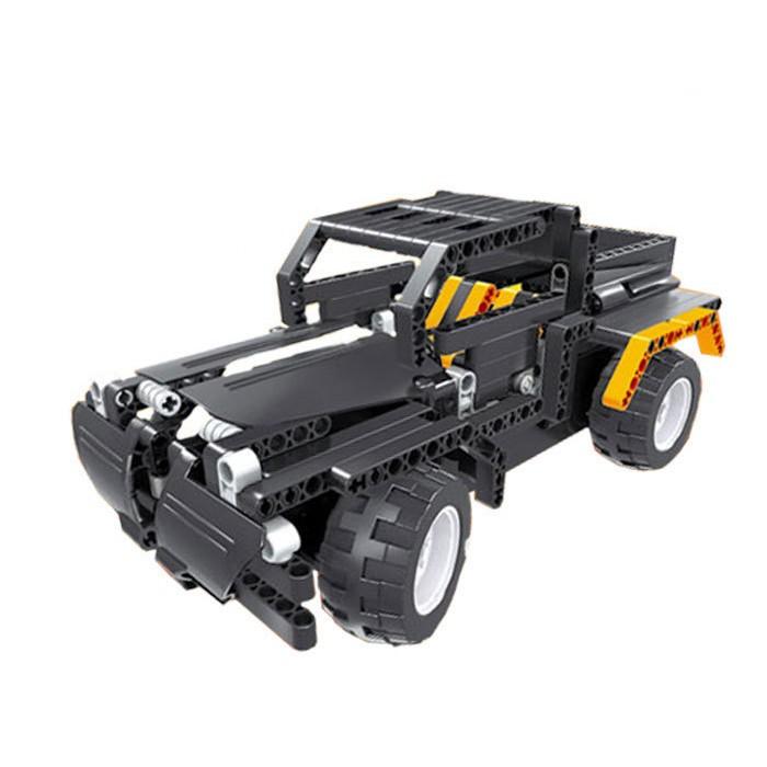 抖音启辉拼装积木充电动遥控车 乐高式积木益智儿童玩具生日礼物