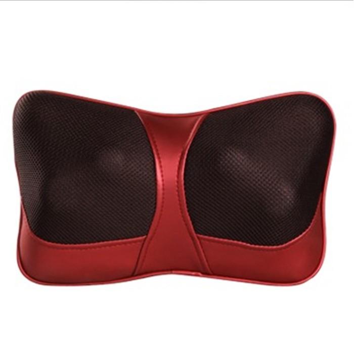 車載按摩枕頭紅外加熱車用按摩墊頸腰靠墊靠枕
