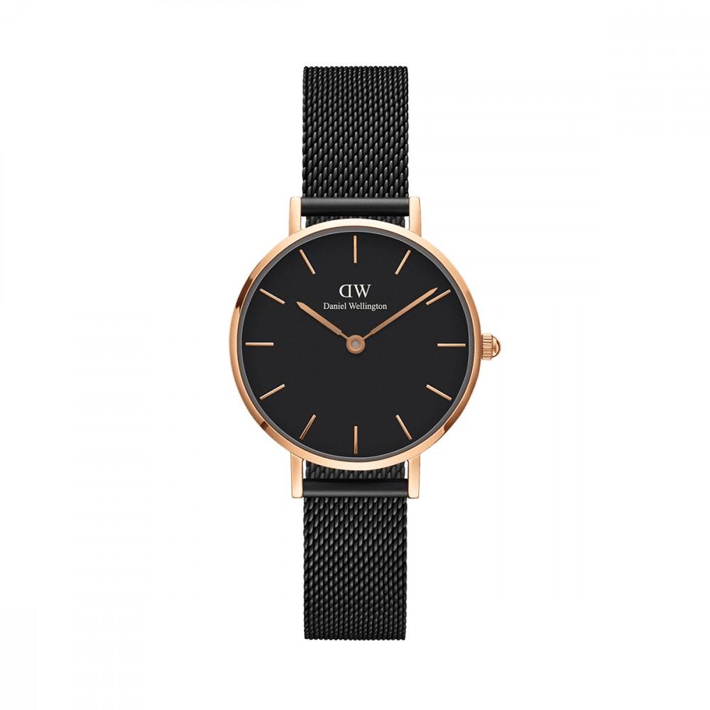 【到期可买断】DW手表金色边金属带黑盘腕表欧美简约风格学生手表