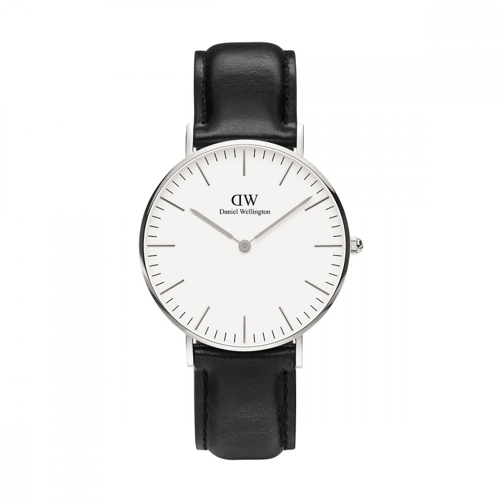 【到期可买断】DW手表黑表盘金边皮带超薄石英表欧美简约时尚腕表