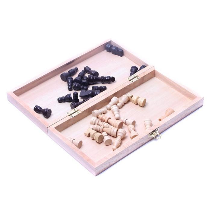 木质拼格可折叠国际象棋 RB61 实木中号 休闲桌游娱乐玩具0.55