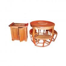 圆形茶桌六件套(全新)