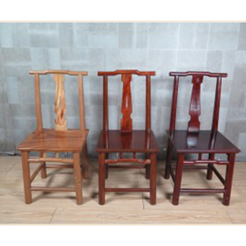 【租滿即送】中式二出頭椅仿古實木官帽椅靠背椅單人休閑椅子型號1855