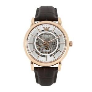 阿瑪尼 時尚潮流商務休閑男士鏤空自動機械手表/到期一元買斷