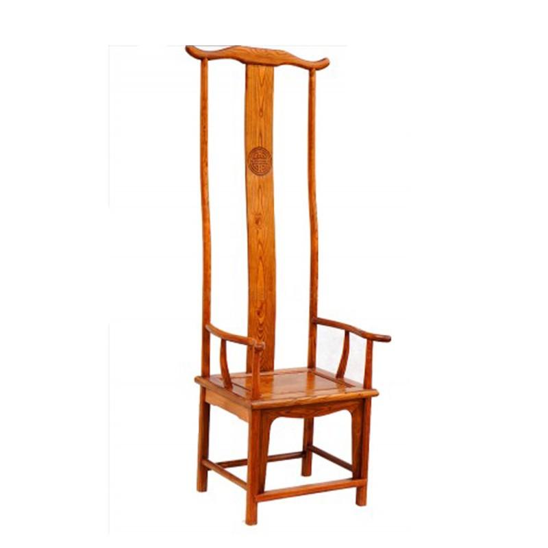 【租满即送】中式实木高背椅 靠餐圈官帽椅彩绘简约古典做旧门厅形象装饰椅