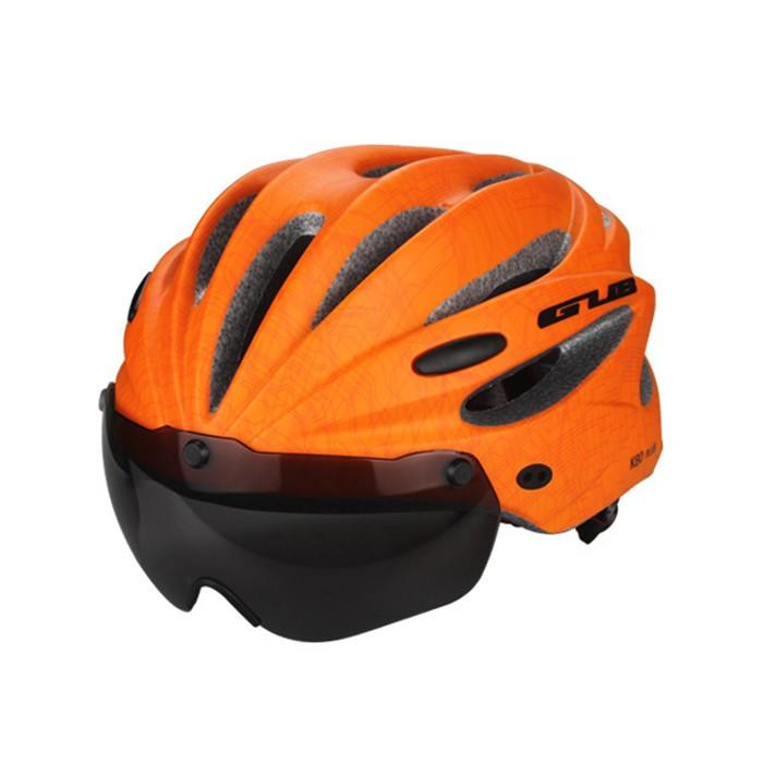 GUB骑行头盔K80风镜一体成型头盔