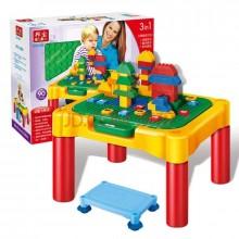 邦宝多功能积木桌大颗粒3-6岁益智拼装玩具儿童桌子