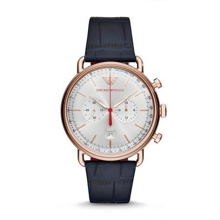 阿玛尼 男士石英手表 商务休闲男士潮流腕表