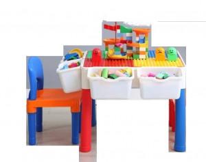 多功能积木桌学习桌 儿童益智拼装