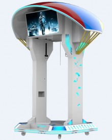 免费加盟银河幻影9DVR高空跳伞VR飞行滑雪站立体验馆设备