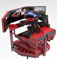 精敏9DVR三屏动感赛车8D赛车模拟驾驶VR摩托车厂家直销、租赁