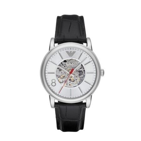 阿玛尼 时尚潮流商务休闲男士镂空自动机械手表 一元到期买断