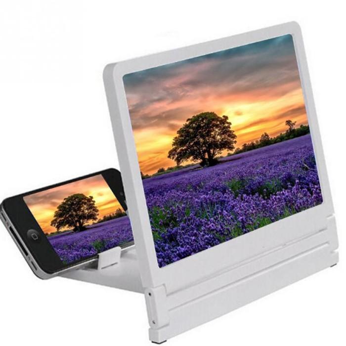 高清手机屏幕放大器 3D视频放大镜护眼宝 多功能手机支架