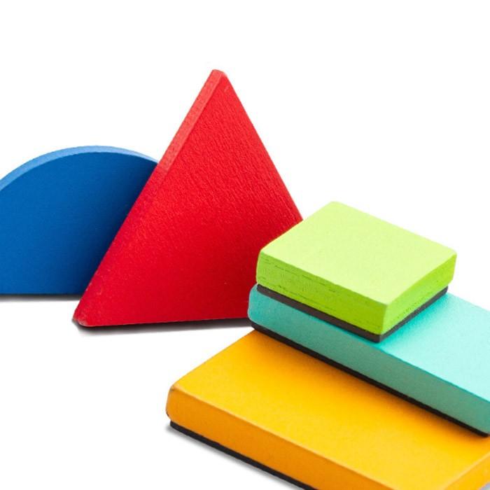 ZKB.1.2几何磁力创意拼图 儿童早教益智磁性七巧板画板木质玩具