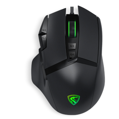 腹灵G51全彩RGB游戏发光鼠标