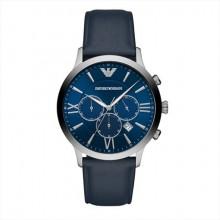 阿玛尼 男士石英手表 时尚三眼计时经典休闲百搭 到期买断