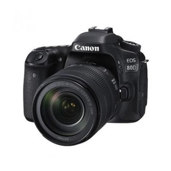 佳能80D相机含18-135USM中端单反学生款照相机高清旅游
