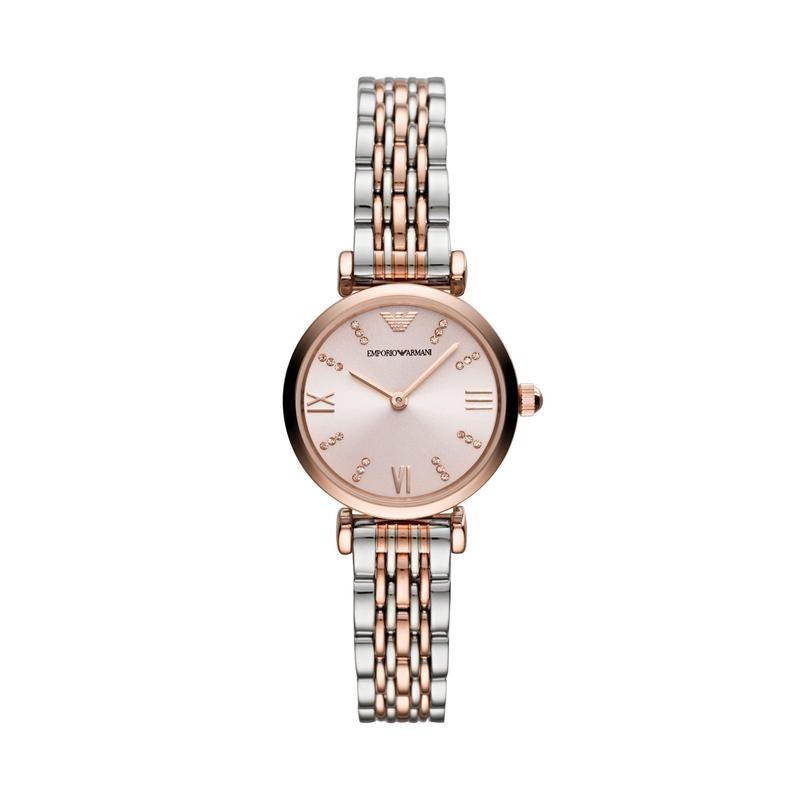 阿玛尼(ARMANI)女士手表小表盘复古经典时尚女表 到期可买断