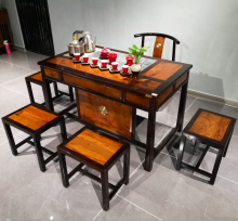 【温度】檀香+东非酸枝茶台茶桌红木家具